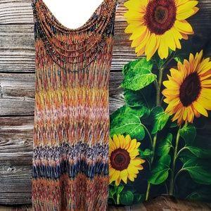 Custom brand ( unknown) 97% Tencel material  dress